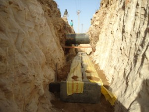 Gas Pipe Line Crossing